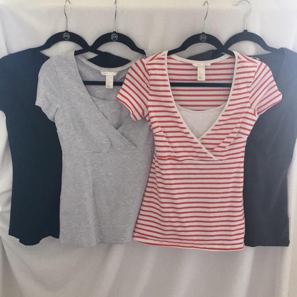 H/&M h m Navy Maternity Mama top t shirt XL